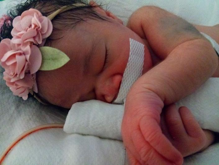 Baby Delashon was delivered via an emergency C-section after her mother was fatally shot. (Photo: )