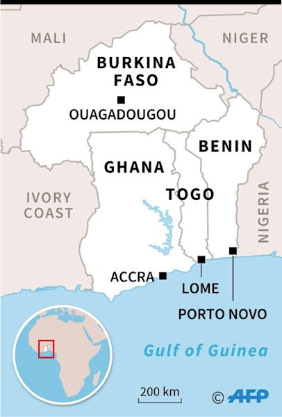 Map locating Ghana, Togo, Benin and Burkina Faso (AFP Photo/)