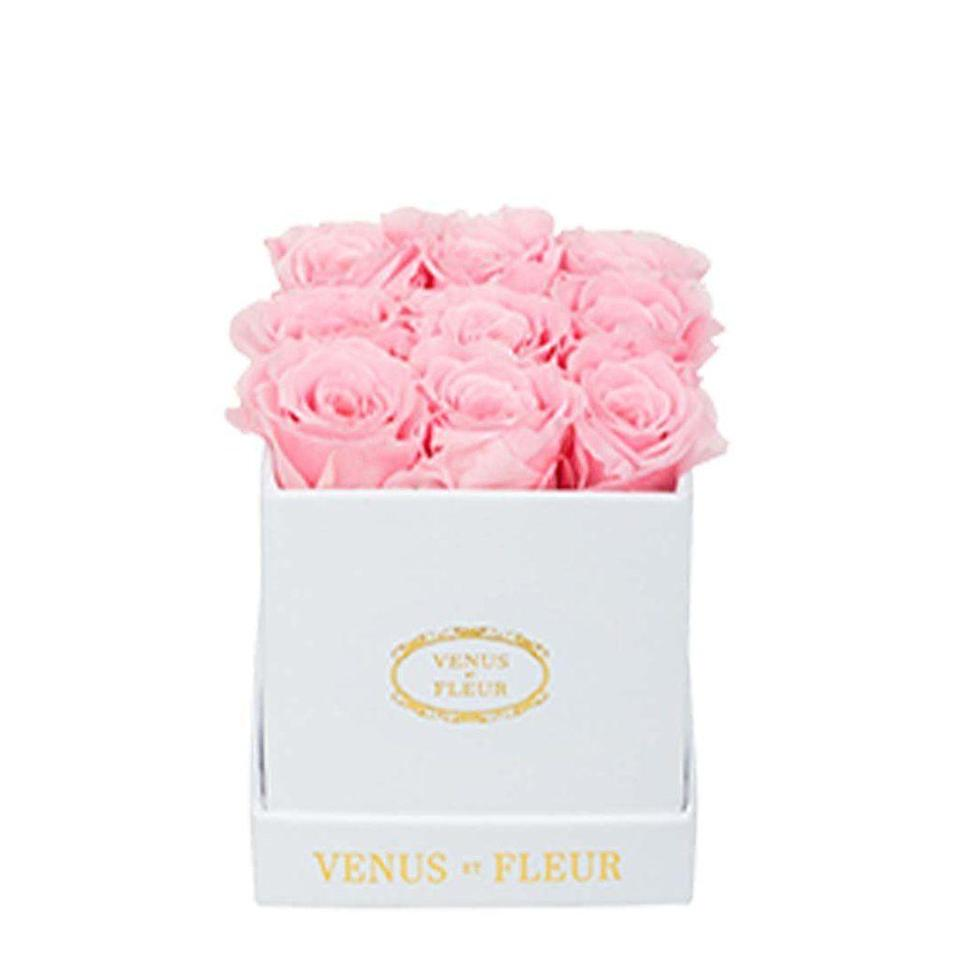 """<p>Venus et Fleur</p><p><strong>$84.00</strong></p><p><a href=""""https://www.venusetfleur.com/products/mini-square-classic?variant=34568490614828"""" rel=""""nofollow noopener"""" target=""""_blank"""" data-ylk=""""slk:Shop Now"""" class=""""link rapid-noclick-resp"""">Shop Now</a></p><p>Because nothing says friends forever like a mini box of flowers that lasts for all of eternity. </p>"""