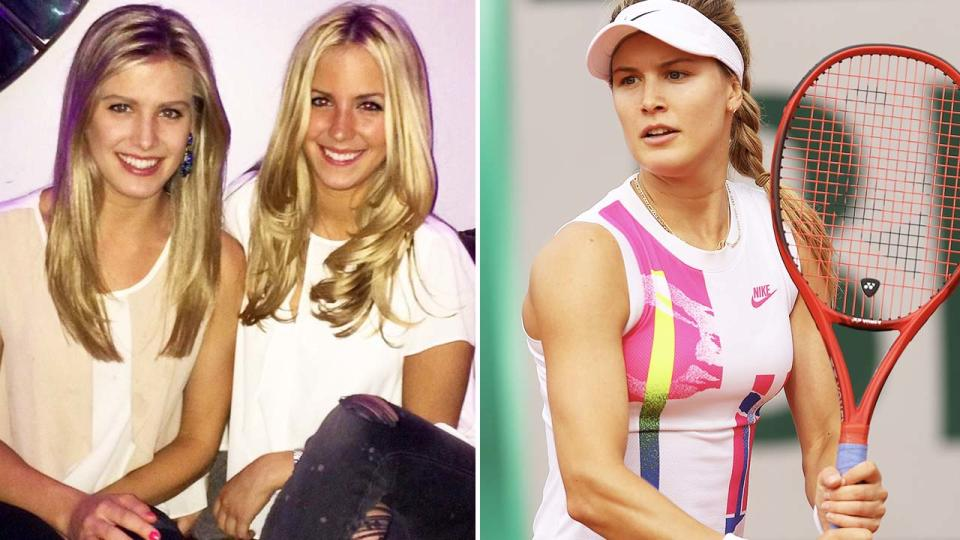 Beatrice Bouchard, pictured here with twin sister Eugenie.