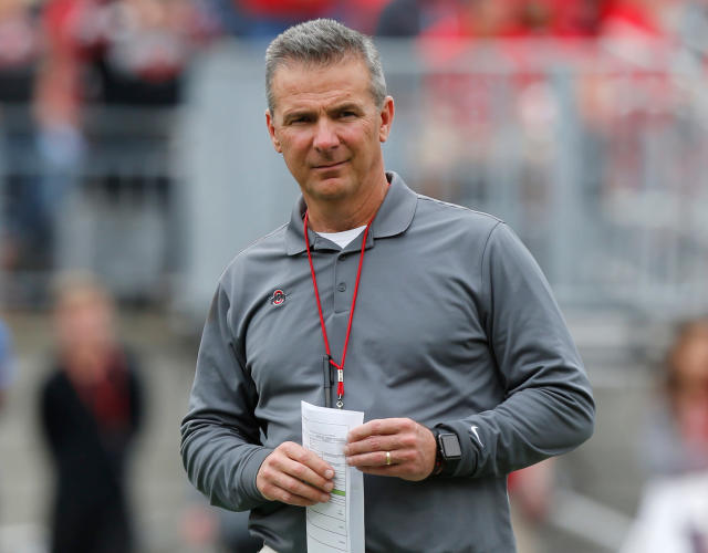 Urban Meyer is currently on paid administrative leave. (AP Photo/Jay LaPrete, File)