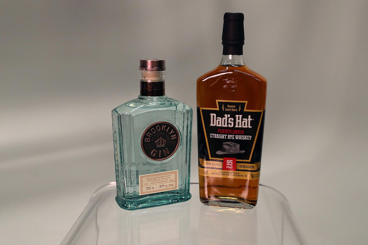 """<p>Dad's Hat Rye<br />This Pennsylvania-made whiskey has an intense aroma and a flavor profile that features the grain and finishes with a hint of brown sugar. Great neat, but not too precious to mix with a soda or ginger and lime. Didn't bother to look into the name, but the hat on the label is reminiscent of Bogart's <a rel=""""nofollow"""" href=""""https://www.pinterest.com/pin/276267758361079608/"""">Phillip Marlow</a> in <em>The Big Sleep</em>, who works some magic on the sexy bookstore clerk with the line """"I've got a pretty good bottle of rye in my pocket. I'd rather get wet in here."""" <a rel=""""nofollow"""" href=""""https://www.drinkupny.com/Who-sells-Dad-s-Hat-95-Proof-Rye-p/s1762.htm"""">$63</a><br />Brooklyn Gin<br />Somewhere along the line gin became the stodgy old """"other white spirit,"""" with vodka becoming the booze of choice even in martinis. Brands like Brooklyn are making gin relevant again. Made with fresh cracked juniper berries and citrus, it has a lively flavor that's great for trendy cocktails like the <a rel=""""nofollow"""" href=""""http://www.brooklyngin.com/cocktails/negroni/"""">negroni</a> as well as a classic <a rel=""""nofollow"""" href=""""http://www.brooklyngin.com/cocktails/brooklyn-gin-martini/"""">martini</a>. The art deco bottle itself is almost a gift item. <a rel=""""nofollow"""" href=""""http://www.astorwines.com/SearchResultsSingle.aspx?p=2&search=26154&searchtype=Contains&utm_source=google&utm_medium=shop&utm_campaign=feed&gclid=Cj0KEQjw6-PJBRCO_br1qoOB4LABEiQAEkqcVdfj111aBbC4pqxgYACpxRdimKR0vQQufBnTVjn-pGwaAp0G8P8HAQ"""">$45</a> (Gordon Donovan/Yahoo News) </p>"""