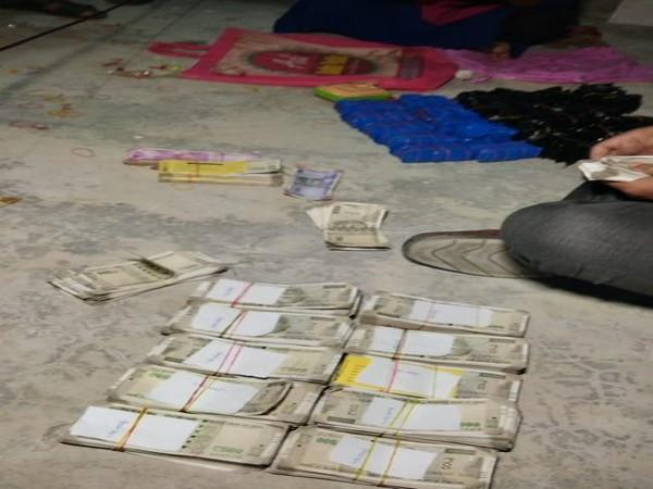 A visual of drugs seized and cash recovered in Agartala, Tripura.