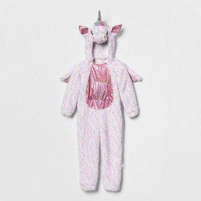 """<p><strong>Hyde & EEK! Boutique</strong></p><p>target.com</p><p><strong>$25.00</strong></p><p><a href=""""https://www.target.com/p/toddler-adaptive-plush-unicorn-halloween-costume-jumpsuit-hyde-eek-boutique/-/A-79803956"""" rel=""""nofollow noopener"""" target=""""_blank"""" data-ylk=""""slk:Shop Now"""" class=""""link rapid-noclick-resp"""">Shop Now</a></p><p>For toddlers, this plush unicorn costume is as easy as it comes. The hood, wings, and tail are all removable, so you can customize the costume to your child's level of comfort, and it comes with a full-length side zipper and shoulder snap. There's also a <a href=""""https://www.target.com/p/toddler-adaptive-plush-shark-halloween-costume-jumpsuit-hyde-eek-boutique/-/A-79803955"""" rel=""""nofollow noopener"""" target=""""_blank"""" data-ylk=""""slk:plush shark"""" class=""""link rapid-noclick-resp"""">plush shark</a> version. </p>"""