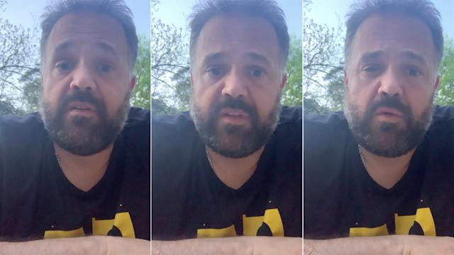 Panthers coach Matt Rhule, in screen captures from his 6-minute message to his team.