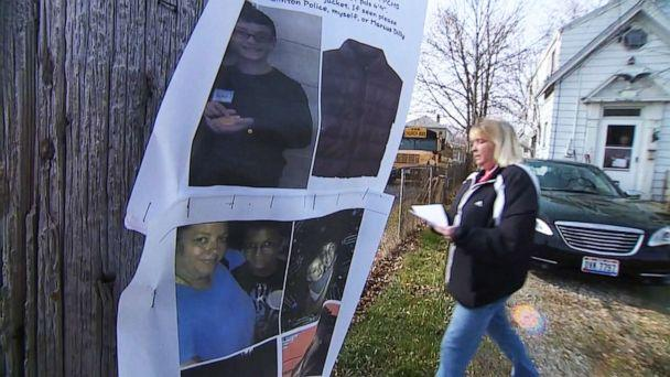 PHOTO: Port Clinton residents search for Harley Dilly, 14, who has been missing since Dec. 20, 2019, in Port Clinton, Ohio. (WEWS)