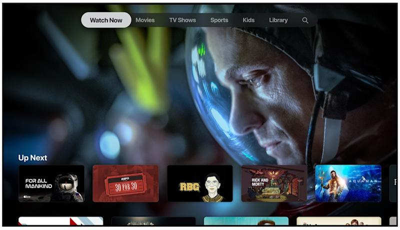 Apple TV+ is Apple's streaming service and is built entirely on the company's original content. But it might need to add third-party shows and movies if it's to compete with the likes of Netflix and Disney+. (Image: Apple)