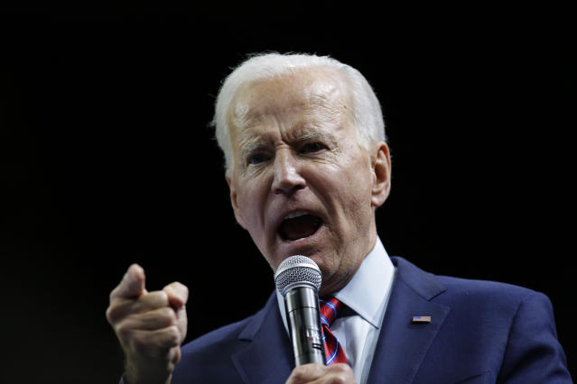 Joe Biden in Des Moines, Iowa. (Photo: Joshua Lott/Getty Images)