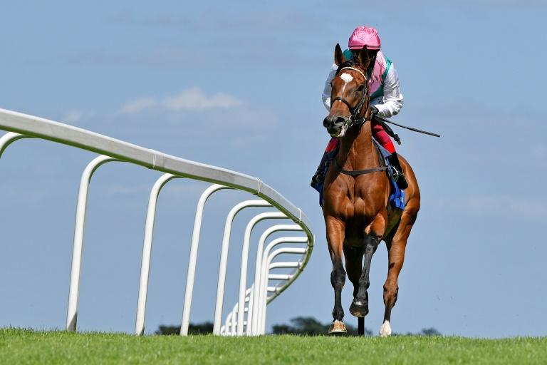 Enable and Dettori before her King George prep race at Sandown (AFP Photo/Francesca ALTOFT)