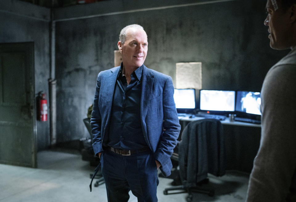 """This image released by Lionsgate shows Michael Keaton in a scene from """"The Protégé."""" (Lionsgate via AP)"""