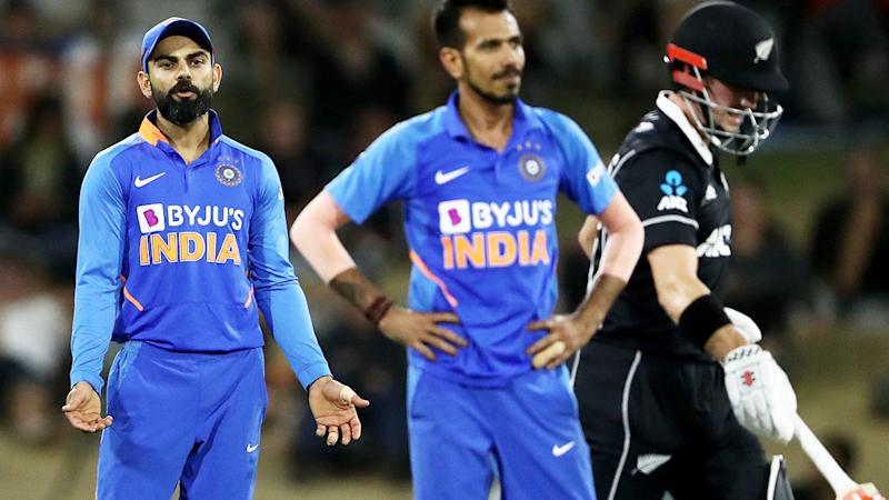 Virat Kohli, pictured here during India's loss to New Zealand in the third one-day international.