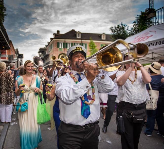 """<p>The Big Easy is famous for its legendary food, drinks, music, and lively atmosphere, so it's no surprise that its annual festival (the ultimate celebration of all these things) attracts thousands of culinary enthusiasts to the Louisiana city each Spring. Now in its 28th year, <a href=""""http://www.nowfe.com/"""" target=""""_blank"""" class=""""ga-track"""" data-ga-category=""""Related"""" data-ga-label=""""http://www.nowfe.com/"""" data-ga-action=""""In-Line Links"""">NOWFE</a> festivities include parade-filled food crawls down Royal Street, fine-dining experiences in the French Quarter, and expert-led seminars, along with boatloads of live music.</p> <p><strong>2020 Dates:</strong> March 18-22</p>"""