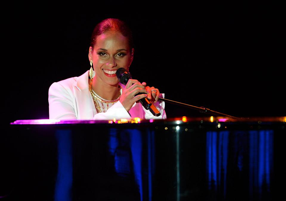 "<b>Alicia Keys:</b> ""My heart breaks for the victims, families and community of the Aurora shootings. My thoughts and prayers are with you all…"" (Photo by Michael Kovac/Getty Images)"