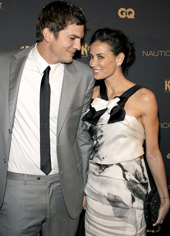 "Ashton Kutcher and Demi Moore's marriage might not make much sense on paper -- she's 15 years his senior! -- but it's obvious by the way they look at each other that these two are crazy in love. Larry Busacca/<a href=""http://www.gettyimages.com/"" target=""new"">GettyImages.com</a> - October 28, 2009"