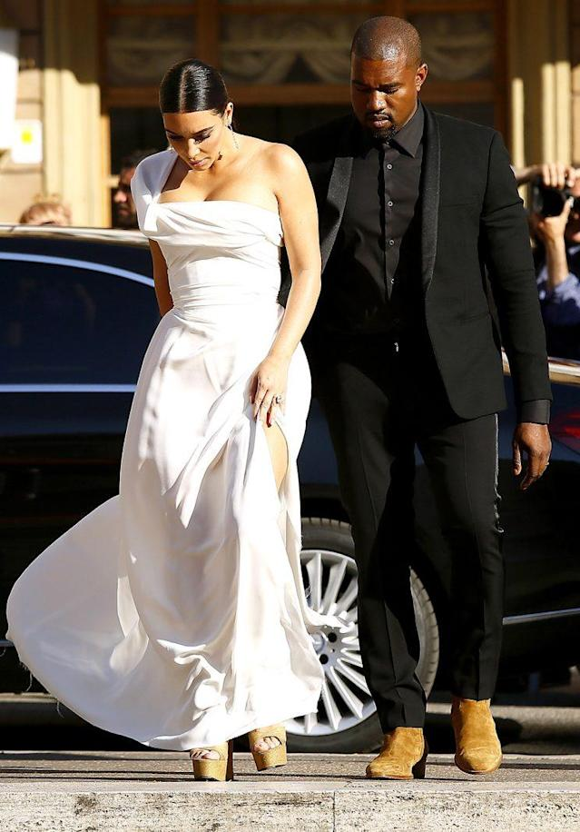 Kim Kardashian and Kanye West celebrated their second anniversary in Rome last year. (Photo: Ernesto Ruscio/Getty Images)
