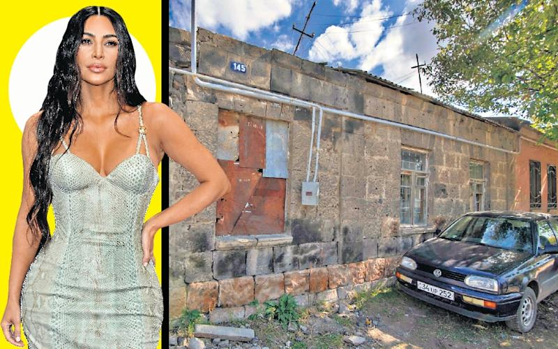 It's hard to picture Kim Kardashian, one of the world's most famous reality TV stars, at her family's ancestral home in Armenia. So we've done it for you !