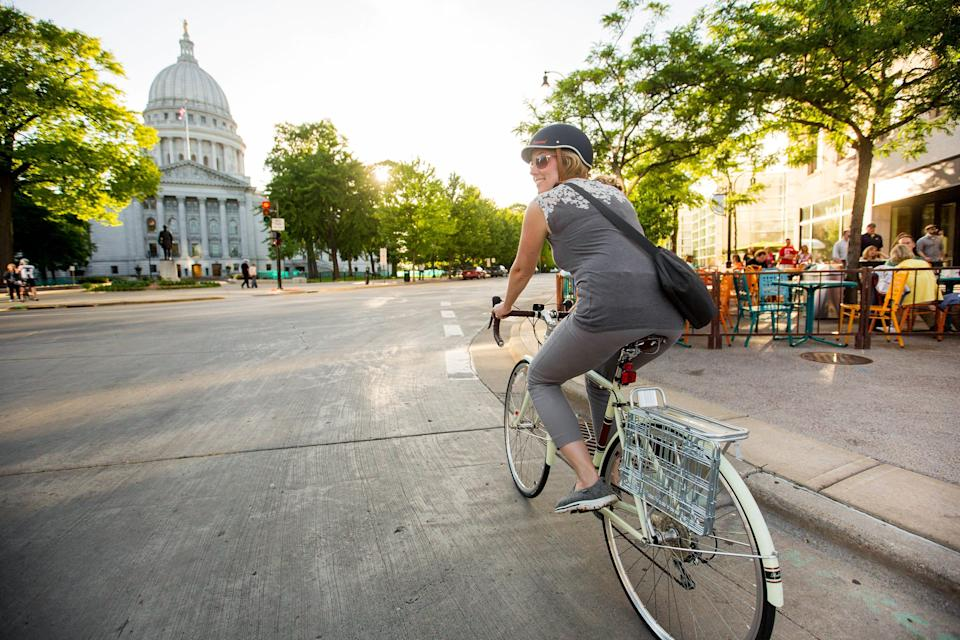 Madison, Wis., was recently designated a Gold Level Walk Friendly Community – the first in the state. With its B-Cycle electric-assist bike share program and more than 200 miles of bike paths, Madison is also one of only a handful of five Platinum Bike Cities in the country.