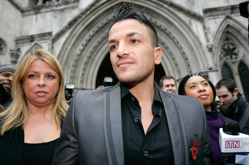 Katie's former manager Claire Powell and ex-husband Peter Andre (Photo: Shutterstock)