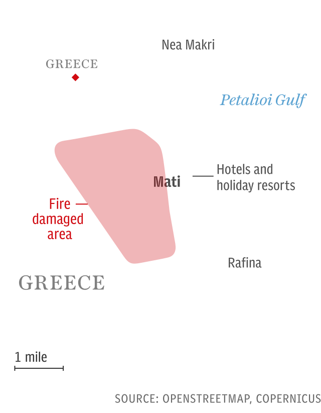Wildfire in Mati, Greece