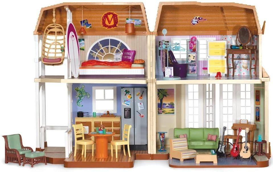 "<p>Miley/Hannah's Malibu pad was #goals, so obviously getting the Barbie replica of it was a must-have. Nobody's perfect (jokes!), but if yours is still in reach, you could <a href=""https://www.ebay.com/itm/Barbie-Disney-Hannah-Montana-Malibu-Beach-Doll-House-Secret-Closet-ETC-Lot/324359121080?hash=item4b854f68b8:g:FKIAAOSw0LlfTaBo"" rel=""nofollow noopener"" target=""_blank"" data-ylk=""slk:make over $200 on the play set."" class=""link rapid-noclick-resp"">make over $200 on the play set. </a> </p>"