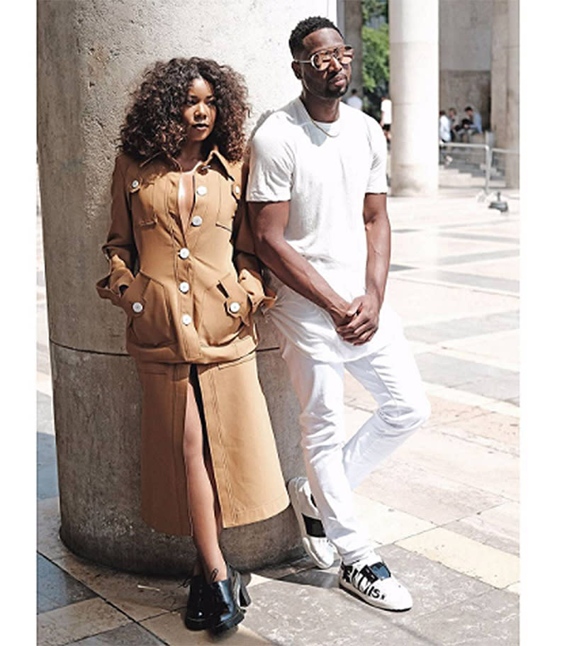 "<p>Posing outside the Rick Owens fashion show. (Photo: <a rel=""nofollow"" href=""https://www.instagram.com/p/BVr6gPQA51J/?taken-by=gabunion&hl=en"">Gabrielle Union via Instagram</a>) </p>"