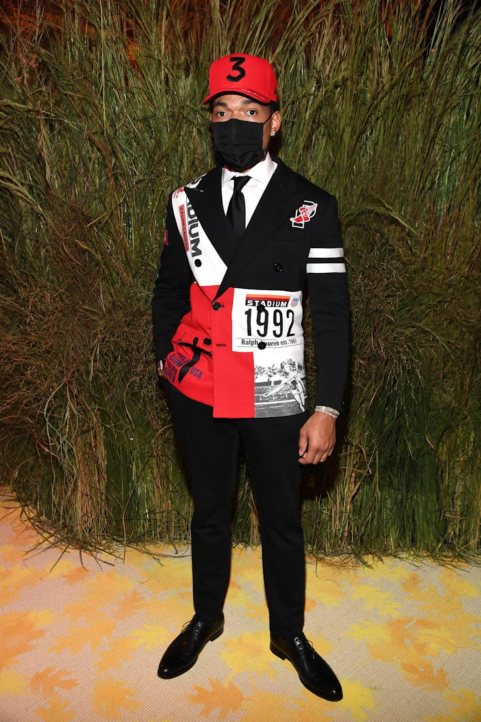 """<h1 class=""""title"""">Chance the Rapper, The 2021 Met Gala Celebrating In America: A Lexicon Of Fashion - Inside</h1><cite class=""""credit"""">Getty</cite>"""