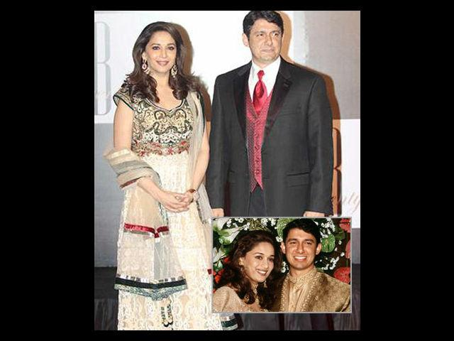 <b>3. Madhuri Dixit </b><br>The gorgeous actress of Bollywood, Madhuri Dixit married Dr. Sriram Chandra Nene, a practicing cardiovascular surgeon from Denver, United States in 1999. They had a small wedding in U.S. but later threw a grand reception at The Club, Mumbai. When asked why she got married in spite of being on top of the success ladder, the blushing bride coyly replied that she had found true love.