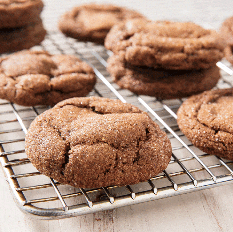 """<p>These soft molasses cookies by Delish have a cake-like texture and a good amount of spice thanks to cinnamon, ginger, cloves, and black pepper(!). Hello, autumn.</p><p><em><a href=""""https://www.delish.com/cooking/recipe-ideas/a25417024/molasses-cookies-recipe/"""" rel=""""nofollow noopener"""" target=""""_blank"""" data-ylk=""""slk:Get the recipe from Delish »"""" class=""""link rapid-noclick-resp"""">Get the recipe from Delish »</a></em></p>"""