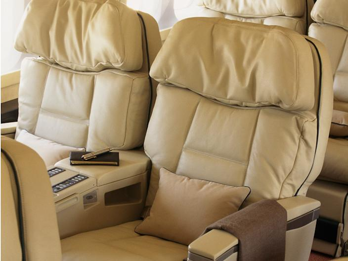 Inside a PrivatAir Boeing Business Jet 737.