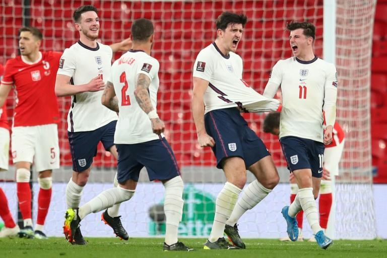 Harry Maguire's late goal earned England victory over Poland at an empty Wembley