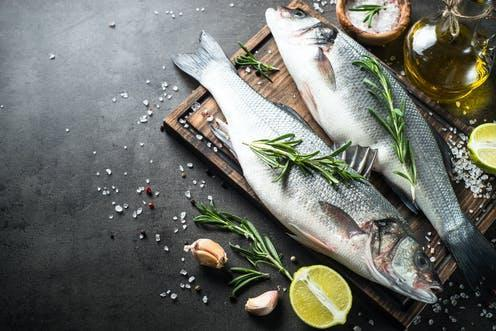 """<span class=""""caption"""">A fish-based diet is good for the environment and people's health.</span> <span class=""""attribution""""><span class=""""source"""">nadianb/Shutterstock</span></span>"""