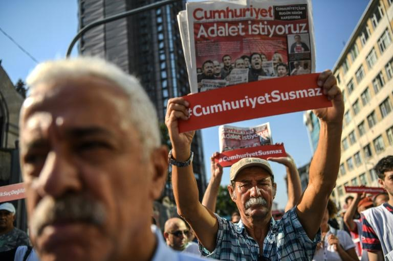 Turkish court frees seven journalists as trial continues
