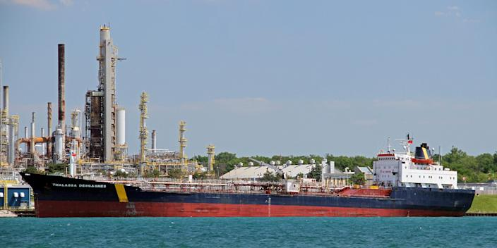 An image of the tanker now known as the Asphalt Princess