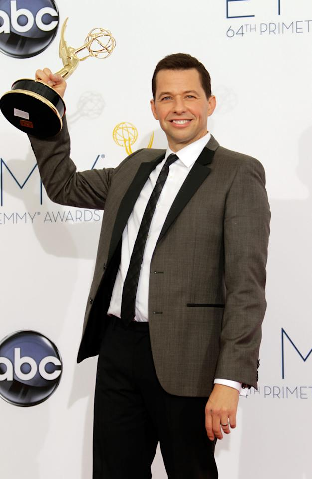 Jon Cryer poses in the press room during the 64th Primetime Emmy Awards at Nokia Theatre L.A. Live on September 23, 2012 in Los Angeles, California.  (Photo by Jeff Vespa/WireImage)