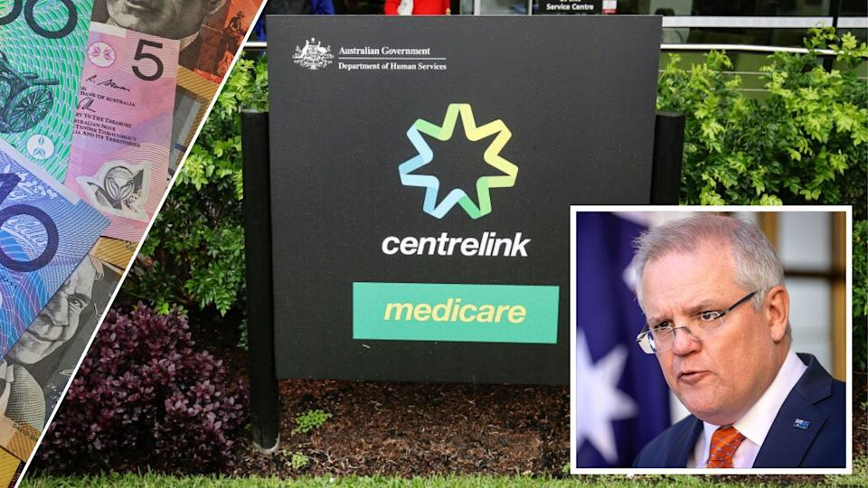 Scott Morrison has announced a change to JobSeeker. Images: Getty