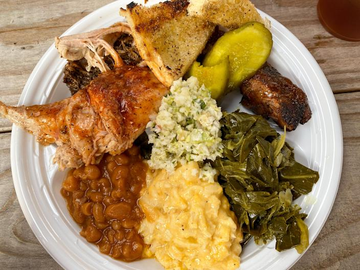 At a recent preview of Munchie's Live BBQ, I had the opportunity to sample sides and meats from Mann's menu. It's really good.  (Terri Peters)