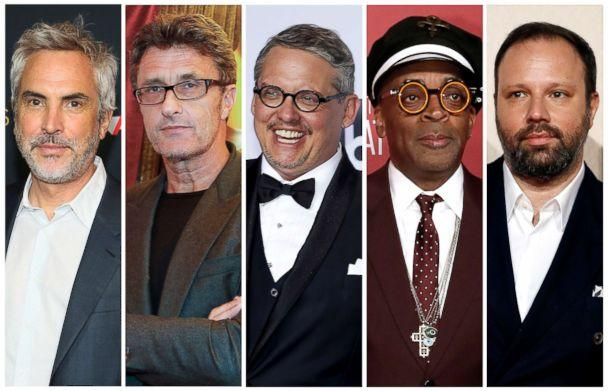 PHOTO: Best director Oscar nominees for the 91st annual Academy Awards, from left, Alfonso Cuaron, Pawel Pawlikowski, Adam McKay, Spike Lee and Yorgos Lanthimos. (Reuters)