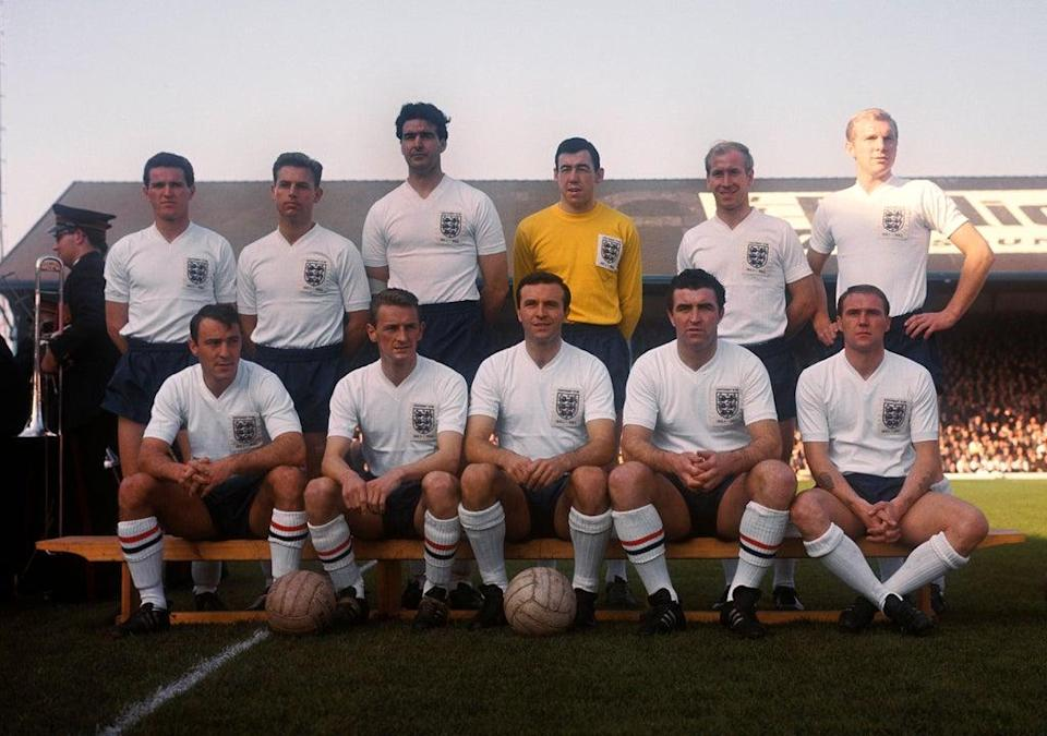 Terry Paine (back left) and Jimmy Greaves (front left) lined up together for England in 1963 (PA) (PA Wire)