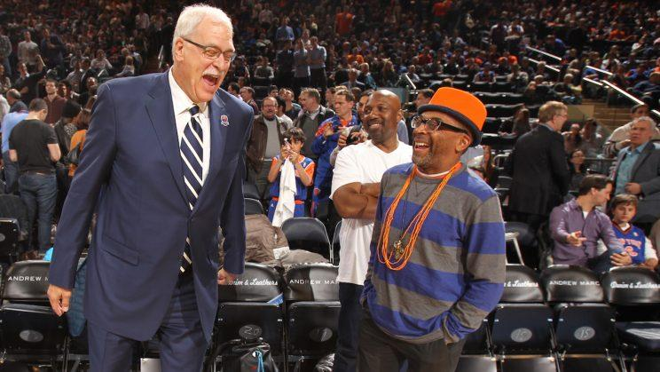 Phil Jackson and Spike Lee aren't laughing together anymore. (Getty Images)