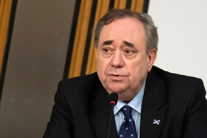 Scotland's former First Minister Salmond gives evidence to a Scottish Parliament committee at Holyrood, in Edinburgh