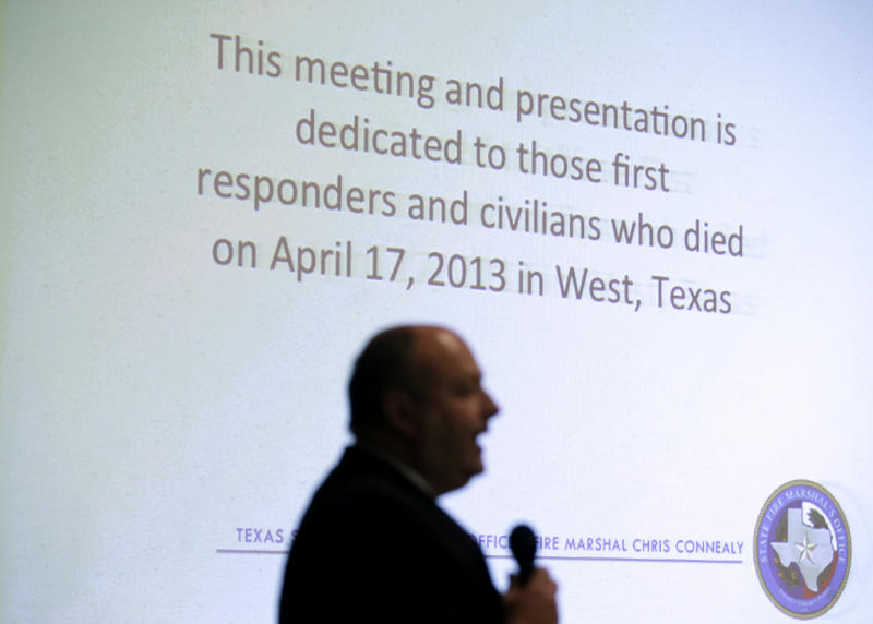 Fire marshal preaches safety, training after West