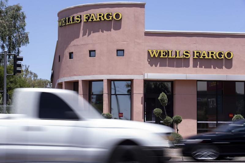 Wells Fargo is among the big banks reporting a loss.