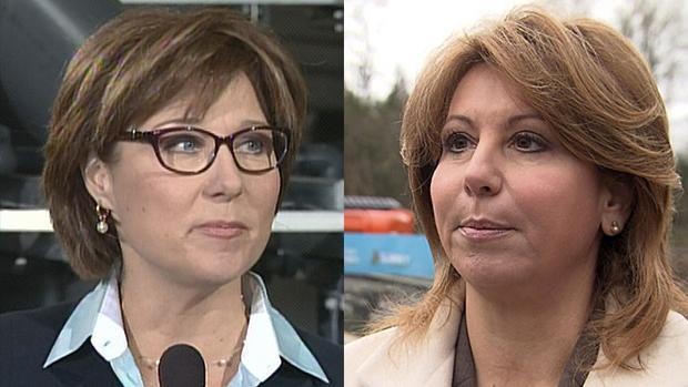 B.C. Liberal Leader Christy Clark, left, and Surrey Mayor Dianne Watts, right, disagree on how tax exemption losses from the switch back to PST should be handled.