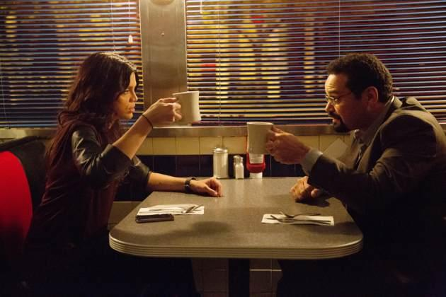 Vanessa Ferlito as Charlie and Vincent Laresca as Jangles in USA's 'Graceland' -- USA