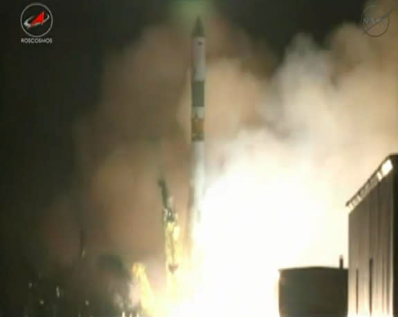Russian Cargo Ship Launches Spacesuit Repair Kit to Space Station