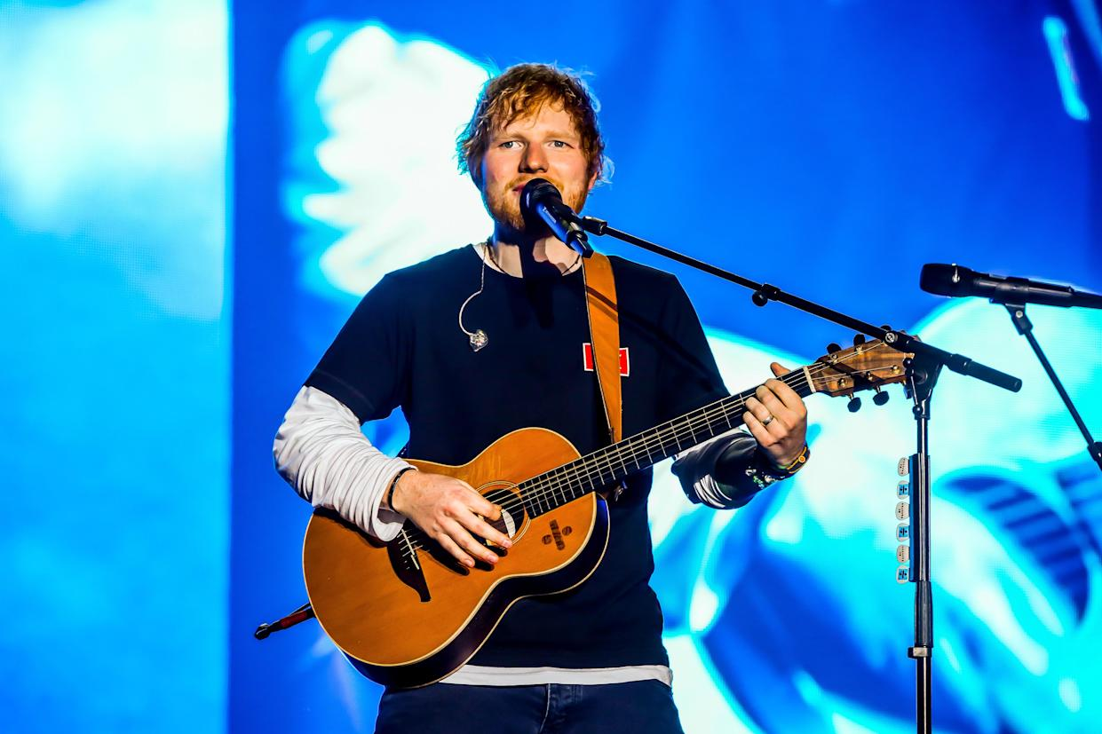 Ed Sheeran says his daughter cries when he sings his songs to her. (Photo by Luigi Rizzo/Pacific Press/LightRocket via Getty Images)