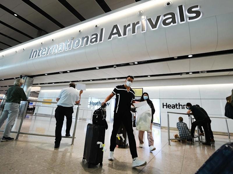 The UK government has continued to back its support for a 14-day quarantine on travellers from Spain (EPA)