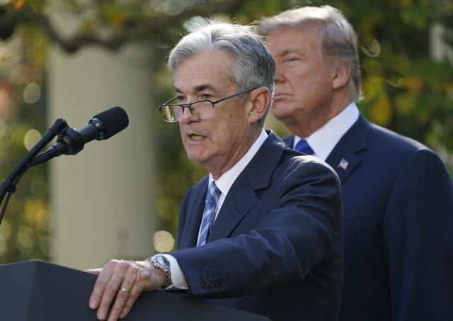 Federal Reserve board member Jerome Powell speaks after President Donald Trump announced him as his nominee for the next chair of the Federal Reserve in the Rose Garden of the White House in Washington, Thursday, Nov. 2, 2017. (AP Photo/Pablo Martinez Monsivais)