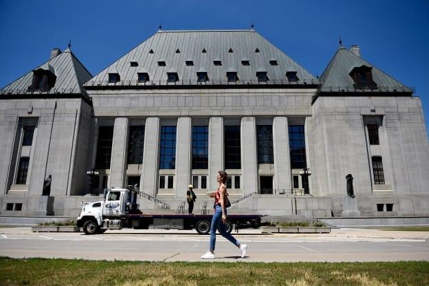 The Supreme Court of Canada is seen in Ottawa on Thursday, June 17, 2021. The highest court has declined to hear an appeal of a bill that places limits on wage increases for public sector workers in Nova Scotia. (Justin Tang/The Canadian Press - image credit)