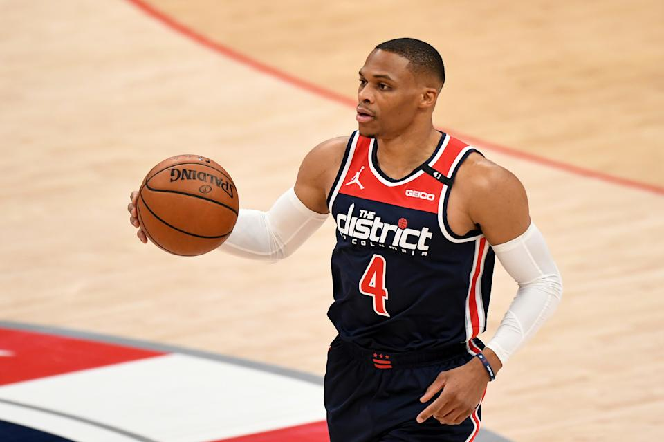 Russell Westbrook #4 of the Washington Wizards